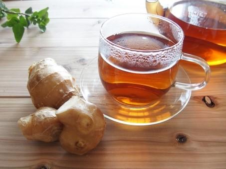 しょうがと紅茶の画像