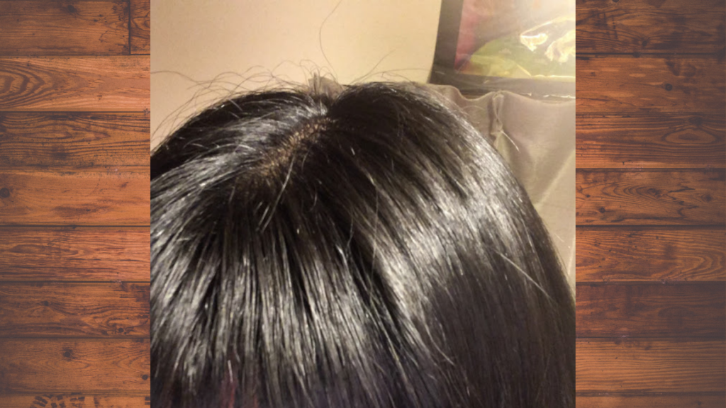 シャンプー 使用前 髪