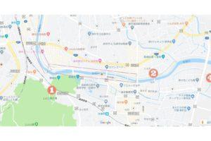 川まつり 駐車場と交通規制マップ