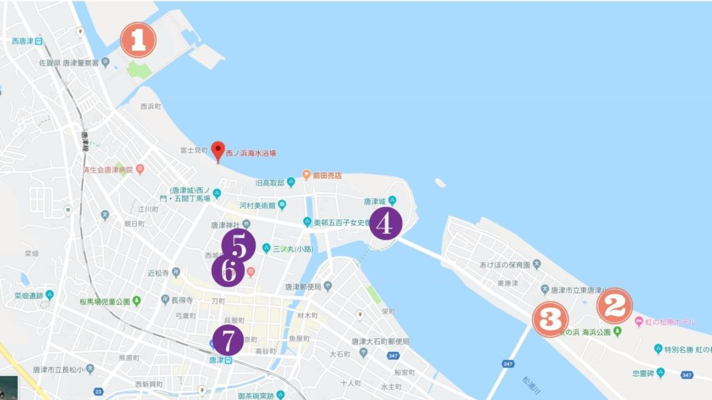 唐津 花火大会 駐車場マップ