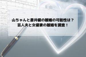 山ちゃん 蒼井優 離婚