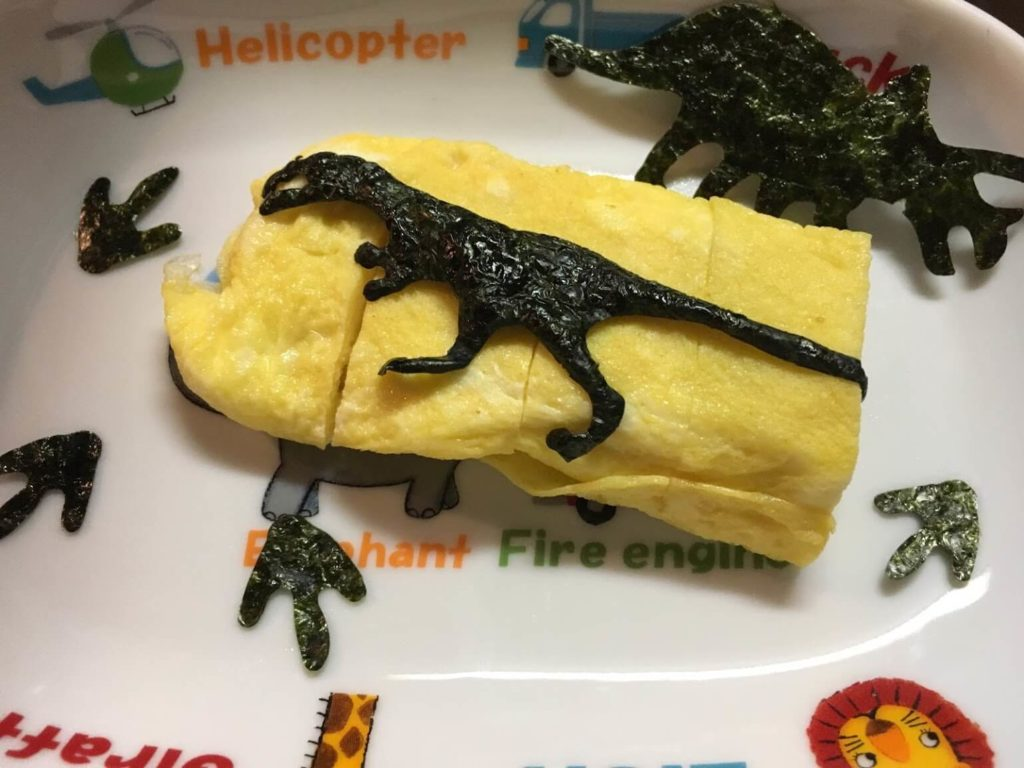 恐竜焼きのり 卵焼き