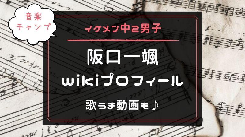 阪口一颯 プロフィール 経歴 音楽チャンプ ジュノン
