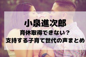 小泉進次郎 育休 取得 できない 理由 子育て世代 支持