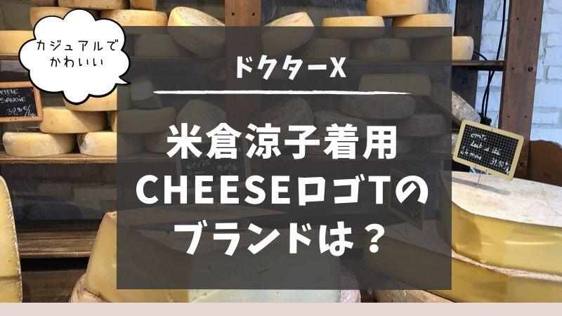 米倉涼子 ドクターX 衣装 CHEESE ロゴ Tシャツ ブランド