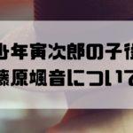 藤原颯音 寅さん 子役 プロフ 経歴