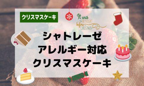 シャトレーゼ 亜クリスマスケーキ2019 アレルギー対応