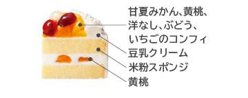 米粉と豆乳クリームケーキ 断面