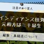 インディアンス 田渕 元相方 ミキ昴生 解散 再結成