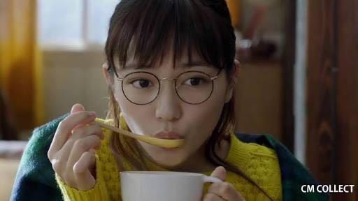 川口春奈 クノール CM 眼鏡